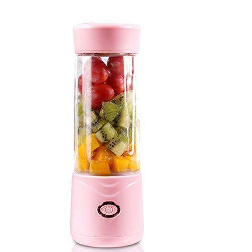 Elektrischer Bequemer Entsafter, Wiederaufladbarer Saftschale, Hausschüler Multifunktions-Mini-Agiting-Saft-Cup (Color : Pink, Size : A1)