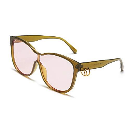 Gafas de Sol Sunglasses Gafas De Sol Cuadradas De Gran Tamaño Mujeres Anillos De Hierro Vintage Decoración Gafas De Sol para Damas Diseñador Lente Transparente Uv400 1
