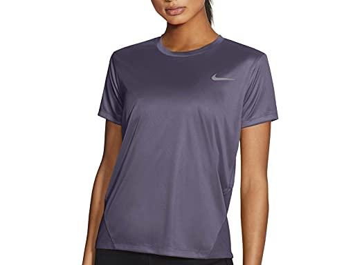 NIKE Miler Camiseta, Morado, XL para Mujer