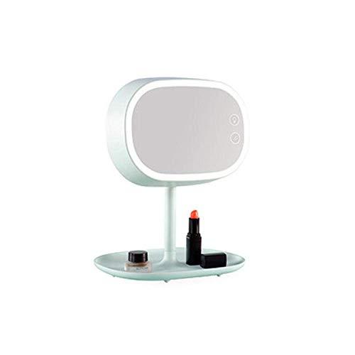 Draagbare tafelbladen Verstelbare LED-lichtspiegel tafellamp-Mintgroen_216mm \u0026 tijden; 176 mm \u0026 tijden; 255 mm