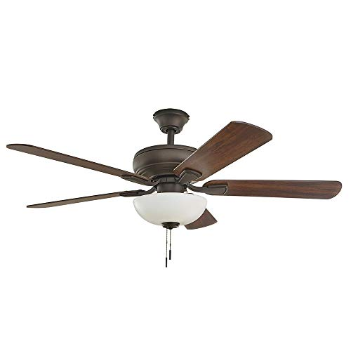 Hampton Bay Rothley II 52 in. Bronze LED Ceiling Fan with...