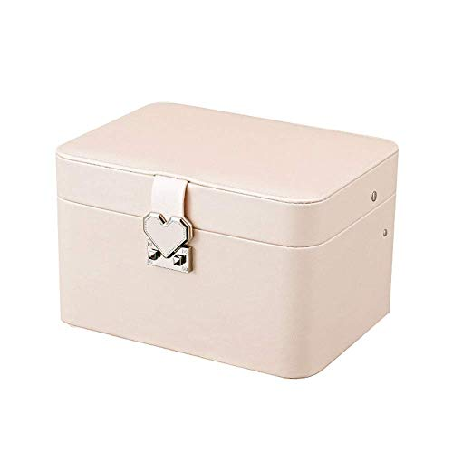 Jewelry Box Multi-layer Oorbelle Afgeronde Automatic Plate Jewelry Storage Box Multifunctionele Jewelry Box Pu Jewelry Box W12 / 14 (Kleur: Roze, Maat: 23,8 * 18 * 14.5cm) lili