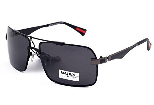 Matrix Collection gepolariseerde zonnebril voor rijden, vissen - lichtgrijze lenzen - geen schittering - metalen frame, nieuw ontwerp
