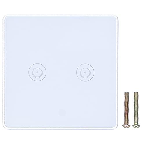 Huairdum Interruptor de luz Inteligente, Interruptor de luz táctil Accesorios de iluminación para Interiores Interruptor de luz de Pared para lámparas de Pared para una Vida Inteligente para el