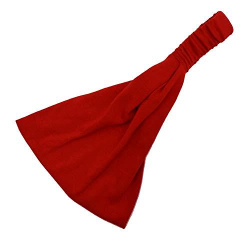 Yosemite Color Sólido Mujeres Diadema Banda Ancha Banda Absorbente para Deportes Running Yoga Fitness Hairband Rojo