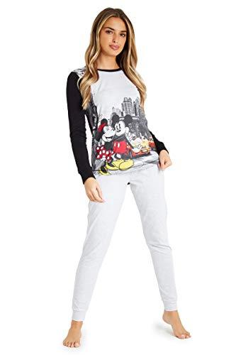 Disney - Pijama para mujer con diseño de Mickey y Minnie en Londres, París o Nueva York