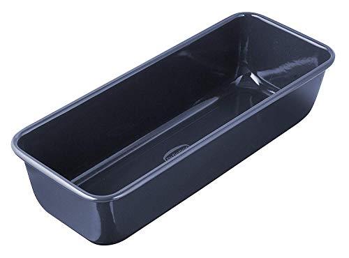 Dr. Oetker Kasten-/Brotback-/Kuchenform, 30 cm Back- Liebe Emaille, robuste, mit schnitt- und kratzfester Emaille-Versiegelung, für saftige Kuchen und deftige Brote, Menge: 1 Stück, Farbe: blau