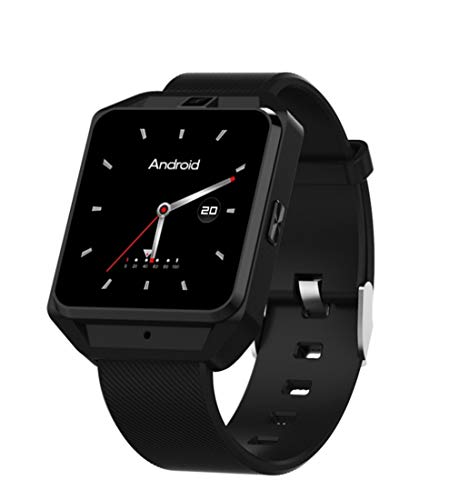 Elegenz-Z Smartwatch, Bluetooth 4.0, waterdicht IP68, fitnesstracker met hartslagmeter, stappenteller, slaapmonitor, stopwatch, sms-notificatie, muziek voor Android zwart