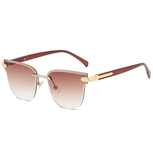 XDOUBAO Gafas de sol Gafas de sol Sin marcar Corte Street Shoots Wild Globos HD Caja redonda de moda Gafas de sol Damas-Té calificado