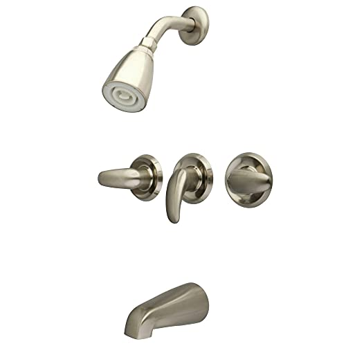 Kingston Brass KB6238LL Legacy Tub and Shower Faucet, Brushed Nickel,5-Inch Spout Reach