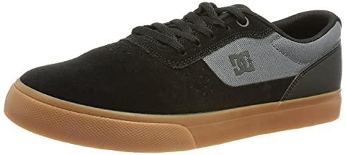 DC Shoes Switch-Leather Shoes, Zapatillas Hombre, Negro, 40 EU