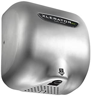 XLERATOR XL-SB Automatic High Speed Hand Dryer with Brushed Stainless Steel Cover and 1.1 Noise Reduction Nozzle, 12.5 A, 110/120 V