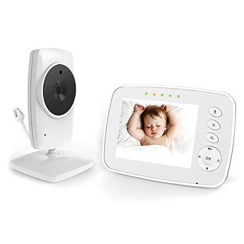 "IKQIEOR Baby Monitor- 3.2"" Video Baby Monitor with Camera and Video, Two-Way Audio, Infrared Night Vision, 2 x Zoom and Lullabies Play"