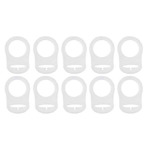 FRCOLOR Porta Anillos Adaptadores de Silicona Chupete Chupete Chupete Chupete Chupete Chupete Chupete Chupete Chupete Chupete Chupete Bebé Anillo para Chupete Bebé Transparente 10 Piezas