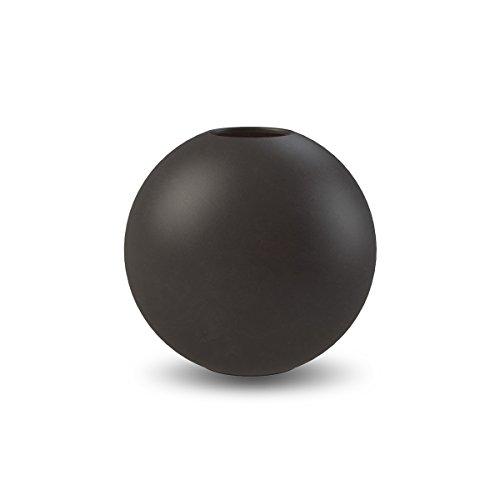 Cooee Design Ball - Vaso in ceramica, 8 cm, colore: Nero
