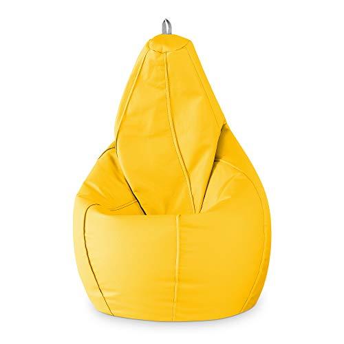 Puff de pera XL (130x80x80) Color Amarillo