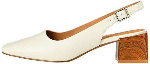 Marca Amazon - find. Square Toe Block Heel Slingback - Zapatos de tacón con punta cerrada Mujer