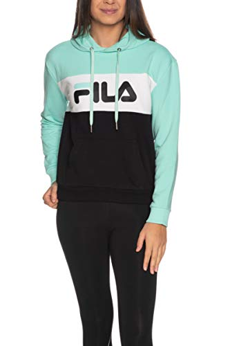 Fila Felpa Lori 687042 Black/Beach Glass/Bright White Regular Fit (40 XS Italia)