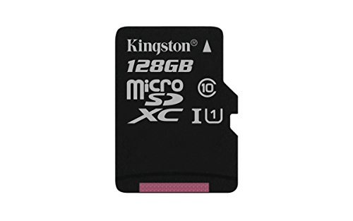 Kingston SDCS/128GBSP - MicroSD Canvas Select velocidades de UHS-I Clase 10 de hasta 80 MB/s Lectura (sin Adaptador SD)