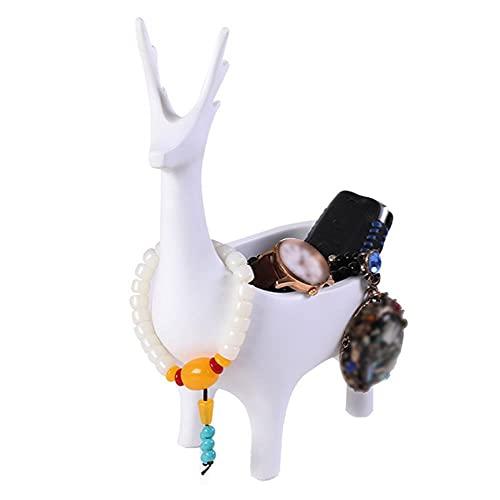 Chytaii Soporte de Joyería Estante de Exhibición de Joyería Soporte de Exhibición para Joyas para El Hogar Expositor de Joyas,Decoración del Hogar,Forma de Ciervo de Diseño Creativo