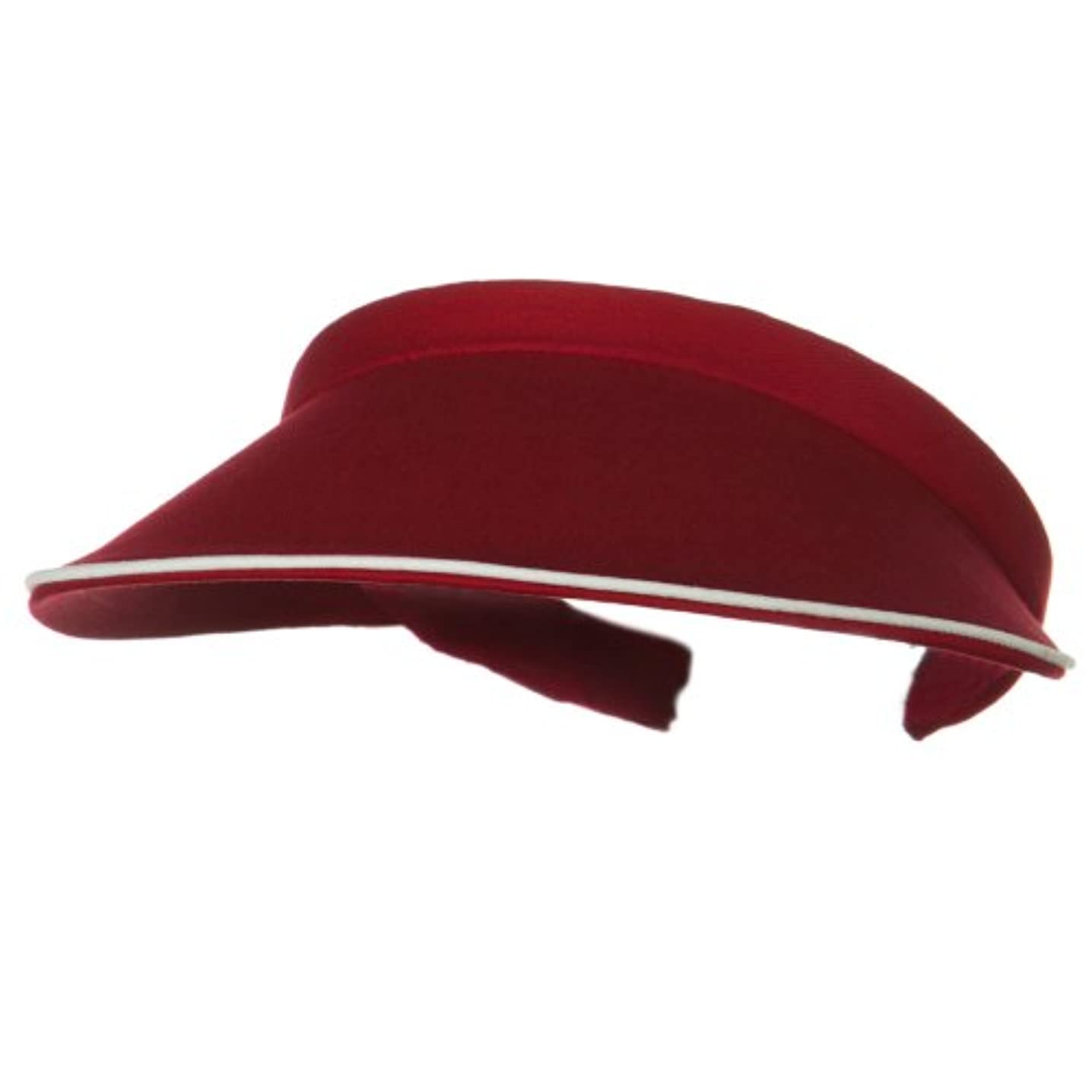 Piping Clip On Visor-Wine W36S38C