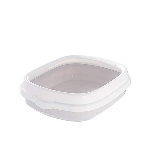 JFYJP Bandeja del Gato del Perro Mascota higiénico Caja Bedpan Arena for Gatos con la Cucharada de Aseo de Suministro de Peluche Anti-Salpicaduras Perro Toilette Inicio de plástico