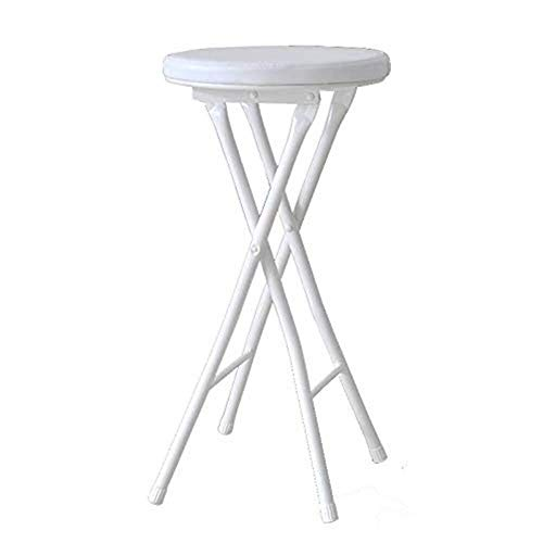 IAIZI Rembourrée Chaise Haute Pliante Ronde Petit déjeuner Cuisine Tabouret de Bar Mobilier Compact Chaise Haute (Size : White-60cm)