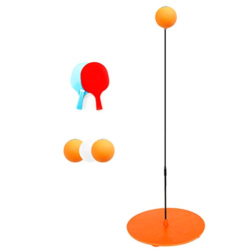 Best Review Of Yuehuam Fixed Indoor Table Tennis Trainer Kit Elastic Rebound Indoor Ping-Pong Training Equipment Tool with 2 Table Tennis Paddle & 3 Ping-Pong Balls for Child Kid Indoor Outdoor Play