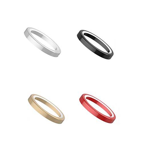 UKCOCO per iPhone XR Camera Lens Protector, 4 Pezzi Titanium Lega Metal Ring Rear Lens Custodia Protettiva Cover per iPhone XR (Colore Casuale)