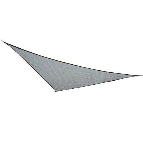 Outsunny Sonnensegel Sonnendach Sonnenschutz Dreiecke HDPE (Grau, 3x3x3m)