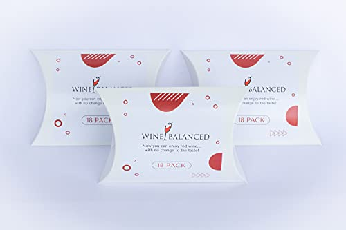 Wine Balanced Ultimate Filter Sachet Wine Filter And Sulfite Remover - Natural Ingredients Prevention Purifier Wine Filters Stops Red Wine Headaches (36-Pack)