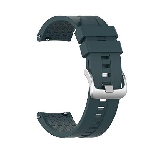 Correa de Reloj de Silicona Compatible con Huawei Watch GT Active 46mm/42mm ,riou Pulseras de Recambio Brazalete Extensibles Correa de Muñeca de Banda de Repuesto