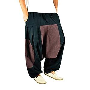 virblatt Pantalones Bombachos Mujer Chandal Pantalones cagados pantalón Harem Mujer - Erde SM | DeHippies.com