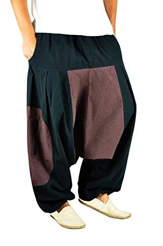 virblatt Pantalones Harem Hombre Pantalones Hippies Bombachos cagados - Wasser LXL