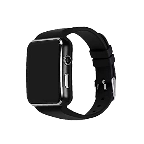 Runfon Reloj Elegante Reloj de la Pantalla táctil Inteligente X6 Bluetooth Deportes con el podómetro del Ritmo cardíaco del sueño Monitor de Mensaje Que le recordará Negro