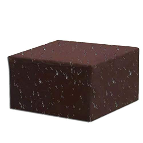 BWBG Cubiertas para Muebles Impermeable, Fundas para Mesas De Terraza Resistente Al Polvo Funda Muebles Exterior Cuadrada Resistentes Al Desgarro Funda Mesa Jardin- 160 * 160 * 70cm