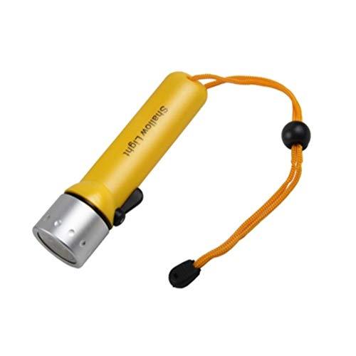 Professionelle Tauchen Taschenlampe 1200Lm Q5 LED Scuba Dive Fackel Beleuchtung Licht-wasserdichte bewegliche Laterne (Emitting Color : Fluorescent Yellow)