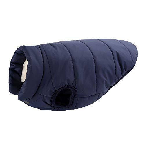 MISSMAO Hundemantel Fleece Futter Jacke Reflektierende Hundejacke Warm Hundemantel Climate Jacke Einfaches An- und Ausziehen Marine 2XL