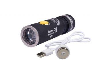 Armytek Prime C1 Pro Magnet USB+18350 / XP-L Warm / 980lm / TIR 20°:80° / 1x18350 or 1xRCR123