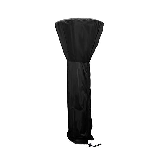 QILU Patio Heater Covers, Outdoor Covers Waterproof, 210D Oxford Fabric Waterproof with Zipper, with Storage Bag Heavy Duty Black