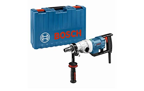 Bosch Professional Nass-Diamantbohrmaschine GDB 180 WE (5,2 kg, 2.000 Watt, 230 Volt, 180 mm Bohrbereich, Adapter Staubabsaugung, Kugelhahn, im Koffer)