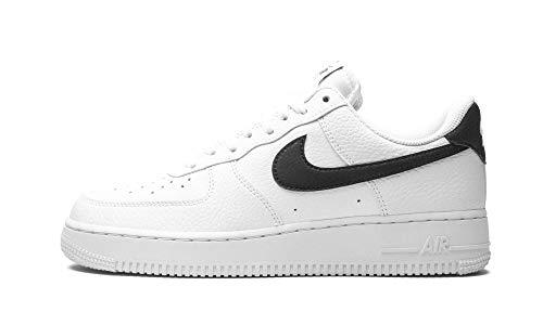 Nike Air Force 1 '07, Zapatillas de bsquetbol Hombre, Blanco y Negro, 47.5 EU
