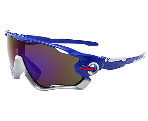AILINSHA Gafas de Sol Deportivas polarizadas, Gafas Deportivas de protección UV 400, Gafas de Ciclismo para Hombres Mujeres, Gafas Deportivas al Aire Libre para Correr Golf P Blue