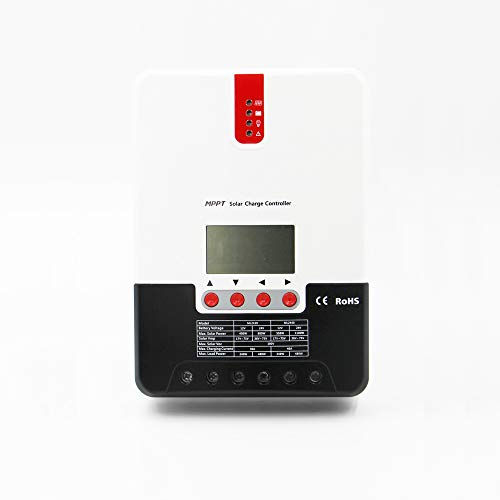 MPPT - Regulador de carga solar (20 A, 30 A, 40 A, 60 A, 12 V, 24 V, 36 V, 48 V, DC con pantalla LCD, regulador solar), ML30A
