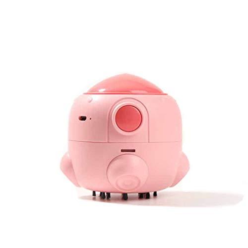 QueenYA Startseite Mini-Raumluftreiniger Mit Echtem HEPA-Filter, Luftqualität Überwachen, Zu Hause Luftreinigern Für Allergien, Haustiere, Ruß, Staub, Schimmel,Rosa