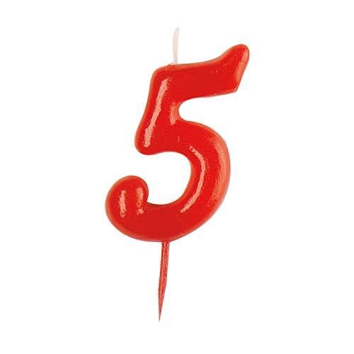 Dekora - vela de cumpleaños numero 5.