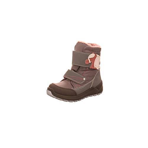 RICOSTA Mädchen Boots GAREI, Weite: Mittel (WMS),Sympatex,waschbar,wasserdicht,Winterboots,warm,Kids,Patina/Graphit (452),25 EU / 8 Child UK