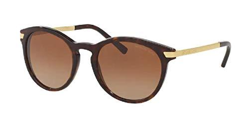 MK2023 310613 53MM Dark Tortoise/Brown Gradient Round Sunglasses for Women + FREE Complimentary Eyewear Kit
