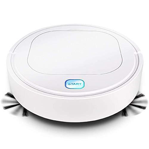 Robot de barrido Robot de barrido inteligente 3 en 1, Máquina automática de limpieza del hogar con carga USB, Aspiradora inteligente perezosa blanca