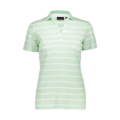 CMP T-Shirt A Righe in 100% Cotone, Donna, Leaf, D44